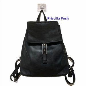 Coach Legacy Vintage Large Black Leather Backpack
